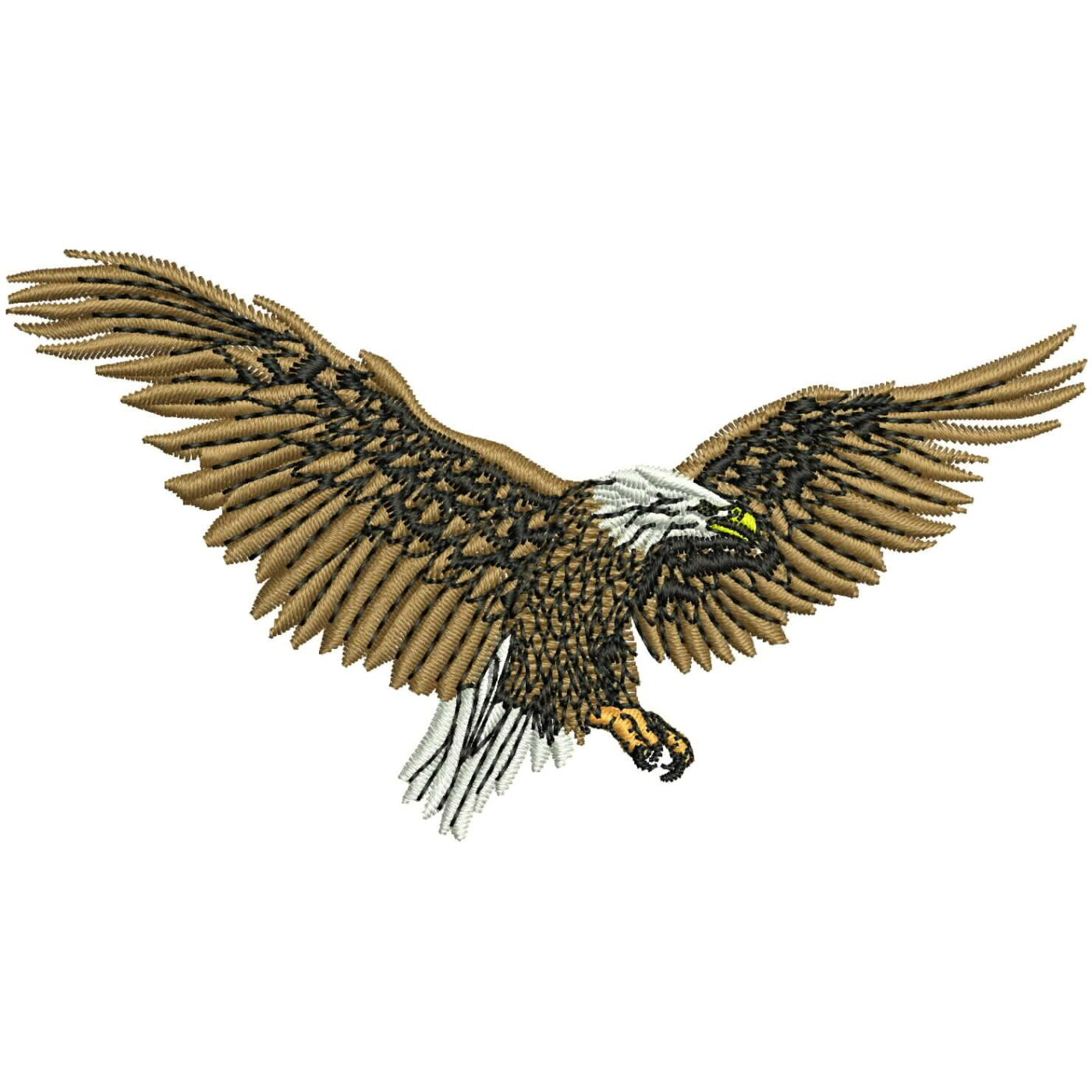 Wl001 Eagle Embroidery Design