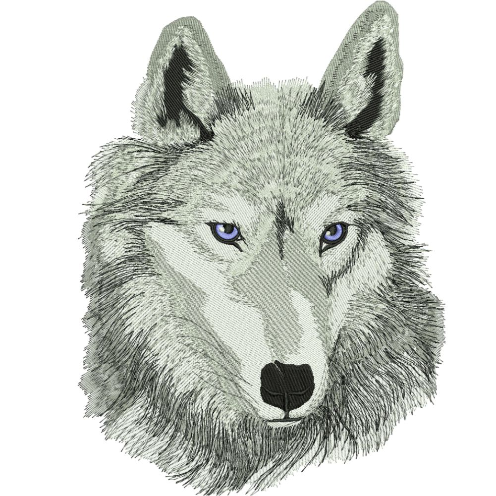 Fd003 Wolf Embroidery Design